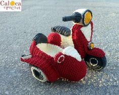 Sidecar Vespa PATTERN amigurumi crochet, by Caloca Crochet from CalocaCrochet on Etsy Studio