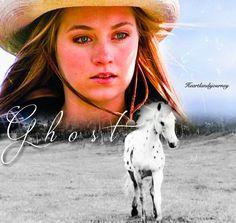 Ghost - Amy Fleming, Season 2 Episode 01 Heartland Season 2, Watch Heartland, Amy And Ty Heartland, Heartland Quotes, Heartland Ranch, Heartland Tv Show, Ty And Amy, Amber Marshall, Show Horses