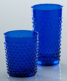This Cobalt Olbia Double Old-Fashioned Glass - Set of Four by Shiraleah is perfect! #zulilyfinds