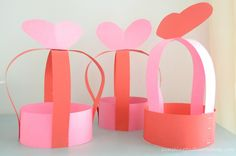 These super silly Valentine Party Hats will fill your need and make some pretty cute props for any February celebration! I love how simple this project is and perfect for kids from toddler to tween!