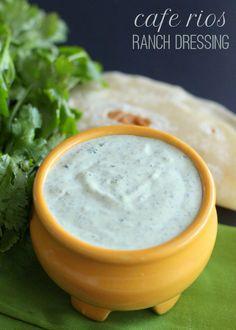 Cafe Rio's Ranch Dressing Recipe on { lilluna.com }