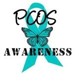 PCOS awareness ribbon with butterfly