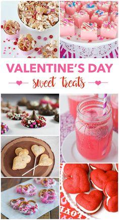 25 sweet valentine's day treats. Valentines Day Desserts, Valentine Treats, My Funny Valentine, Holiday Treats, Holiday Recipes, Valentine Recipes, Valentine Party, Holiday Parties, Valentines Baking