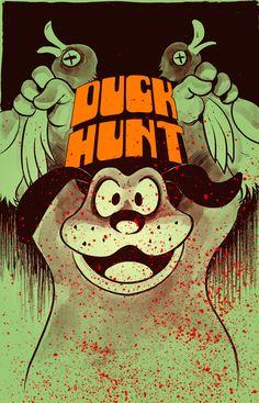 The original Duck Hunt on Nintendo NES Hunting Art, Duck Hunting, Video Game Rooms, Video Game Art, Nintendo, Fotos Do Pokemon, Bartop Arcade, Pop Art, Duck Season