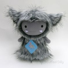 White Frost Monster - by Stuffed by stuffedsilly etsy.com