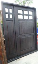 RUSTIC SOLID wood DUTCH DOOR reclaimed lumber side panel + glass included