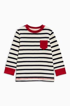 Buy Stripe Long Sleeved Double Cloth Top (3mths-6yrs) from the Next UK online shop
