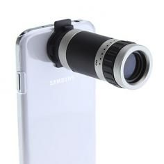 8X Telescope Camera Lens with Back Case and Strap for Samsung Galaxy S4 I9500