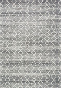 With abstract geometric patterns this Moroccan trellis rug is machine-woven and made of polypropylene making it easy to clean. It is soft, plush and with a neutral gray color that fits effortless in any open setting.