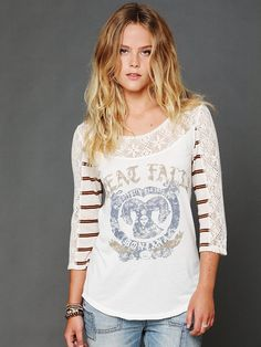 Free People Love Me Long Sleeve Graphic Top, $68.00