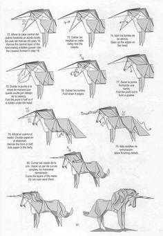 images of origami tutorials | Unicorn origami tutorial | Xinblog
