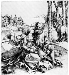 Artist: Dürer, Albrecht, Title: Das ungleiche Paar, Date: ca. 1495