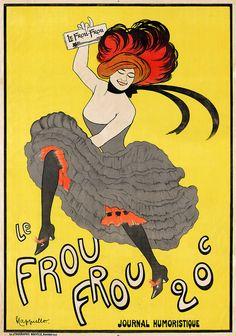 Le Frou Frou, journal humoristique, poster by Leonetto Cappiello, 1899