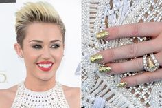 Miley Cyrus Nails at the Billboard Music Awards 2013 Red Carpet   Style Bistro
