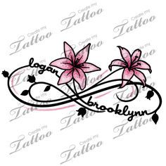Two Kid's Names Foot Tattoo | logan+brooklynn+lily #77508 | CreateMyTattoo.com maybe someday I will be rave enough