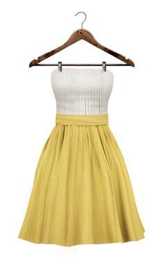 {mon tissu} Seaside Sundress (X X S/XS/S/M/L) ~ Yellow