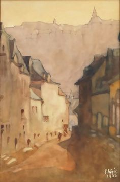 Vue de Luxembourg (1933), Sosthène Weis