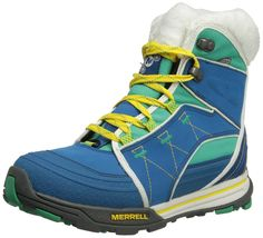Merrell Snowfury winter shoes Ladies Waterproof blue >>> Click on the image for additional details.