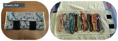Jewelry roll #diy #sewing #sewingproject #craft #jewelry