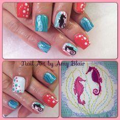 seahorse nails- TOOOO COOL!!!!