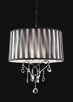 "L95123H CEILING LAMPLike Lamp.DIMENSIONS: L95123H | CEILING LAMP 18""L X 18""W X 20 1/2""H (1PC/CTN) Hanging Crystal"