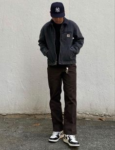 Retro Outfits, Cool Outfits, Casual Outfits, Men Casual, Mode Streetwear, Streetwear Fashion, Outfits Hombre, Stylish Mens Outfits, Looks Cool