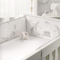 Noah's Ark Cot Bumper | Nursery | Childrens' Bedroom | The Little White Company | The White Company UK