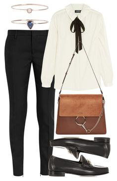 """""""Untitled #5194"""" by rachellouisewilliamson ❤ liked on Polyvore featuring Yves Saint Laurent, A.P.C., Gucci, Chloé and 19Fifth"""