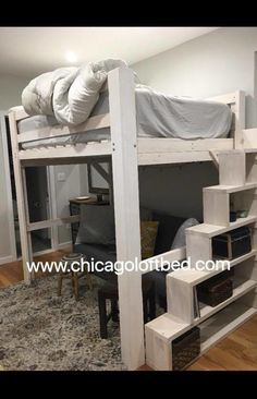 Beautiful Whitewash Bunk Bed