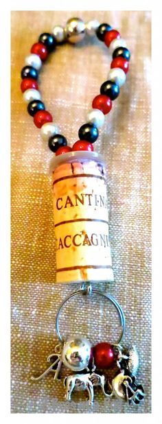 How to make a wine bottle charm- Let the bling begin - wine bottle charm
