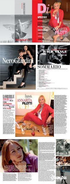"""DI MAGAZINE - ANNA RITA PILOTTI - LORIBLU by DONNAIMPRESA MAGAZINE - Magazine with 48 pages: http://www.donnaimpresa.com LORIBLU SEGNA UNA TAPPA IMPORTANTE NELLA STORIA CONTEMPORANEA DELLA MODA, UN RARO ESEMPIO DI BELLEZZA TUTTA ITALIANA. L'AZIENDA, LEADER NELLA PRODUZIONE DI CALZATURE """"GIOIELLO"""" DA DONNA, È OGGI ANCHE L'ESPRESSIONE PIÙ RAFFINATA DI UNO STILE TUTTO AL MASCHILE: SCARPE ED ACCESSORI PER LEI E PER LUI A CONSACRARE UNA GRIFFE INIMITABILE NEL PANORAMA NAZIONALE. È la ..."""