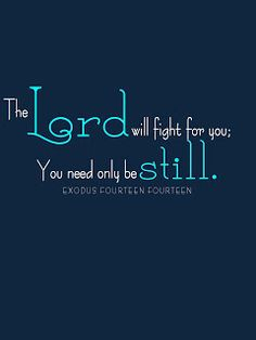 Exodus 14:14 ever notice how often God asks us to simply be still? How bout we try it.