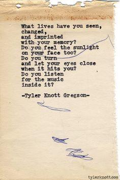 Typewriter Series #592byTyler Knott Gregson