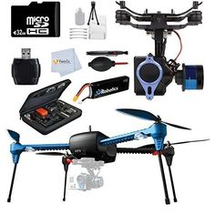 3d Robotics Iris Multicopter 915 Mhz 3DR IRIS with GoPro Mount  Tarot T-2D Brushless Gimbal Kit for 3D Robotics IRIS  Gopro Case  32GB Memory Card  Reader  Battery & more