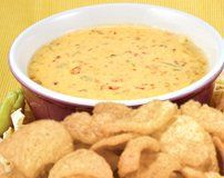 Try this Pork Rind Spicy Beer Queso. #Recipes #SouthernRecipeSmallBatch #PorkRinds #Beer