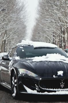 Maserati - driving a precious car in any weather is nice!