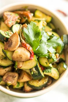Sauteed Zucchini and Mushrooms