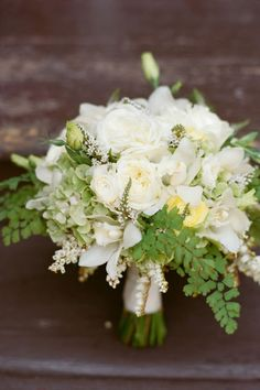 30 Ideas For A Naturally Elegant Wedding - white, yellow, and green bouquet feels fresh and natural.