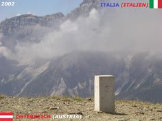 Confini amministrativi - Riigipiirid - Political borders - 国境 - 边界: 2002 AT-IT Austria-Itaalia Austria-Italia