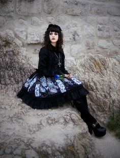 Model, styling: Me Photography, editing, & hair: =Revelio Dress: Alice and the Pirates See more here: Photographs © Maelstrom Photography 2005 - stone cold butterfly Lolita Fashion, Gothic Fashion, Asian Fashion, Gothic Girls, Gothic Lolita, Lolita Style, Gothic Dress, Victorian Gothic, Dark Beauty