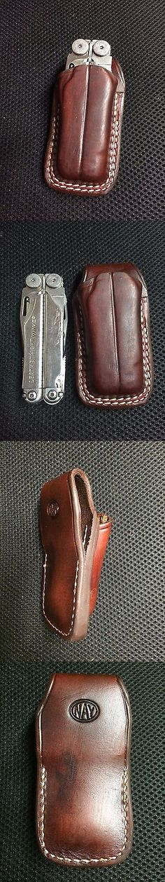 Pocket Multi Tools 75236: Custom Leather Mahogany Case Sheath For The Leatherman Wave New Open Top -> BUY IT NOW ONLY: $35 on eBay!