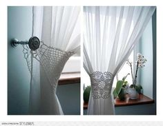 Crochet Curtain Patterns Part 10 - Beautiful Crochet Patterns and Knitting Patterns Crochet Curtain Pattern, Crochet Curtains, Curtain Patterns, Lace Curtains, Curtain Designs, Crochet Doilies, Crocheted Lace, Drapery, White Curtains
