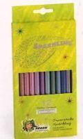 Jolly Supersticks Sparkling Kartonnen doos met 12 supersticks kleurpotloden  in metallic kleuren voor een sprankelend effekt. Het mooiste resultaat op donkere ondergrond. Ook deze sparkling potloden zijn van dezelfde  goede kwaliteit als de hele Jolly collectie. Kartondoos met 12 potloden
