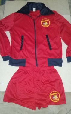 d86511b8bad Baywatch Costume Adult Lifeguard Halloween 2 Piece Size M