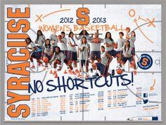 Women's Basketball 2012-2013 Poster • No Shortcuts!