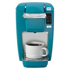 I love the color.  I want it in the guest room for the coffee area. Target.com     Keurig K10 Mini Plus Brewer