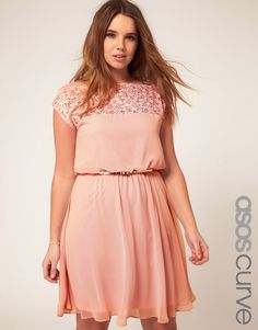 lace peach dress from ASOS