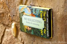 No soliciting sign that can't be missed via MakelyHome.com