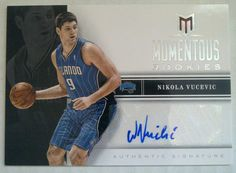 2012 13 Momentum Rookies Auto Nikola Vucevic