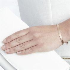 Rose Gold plated sterling silver bracelet.